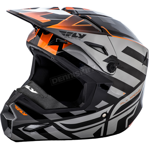 Fly Racing Black/Orange Interlace Elite Cold Weather Helmet - 73-4942-9-2X
