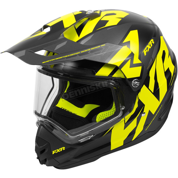 FXR Racing Black/Hi-Vis/Charcoal Torque X Core Helmet w/Electric Shield - 180610-1065-13