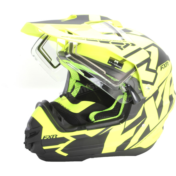 FXR Racing Black/Hi-Vis Torque X Core Helmet w/Electric Shield - 180610-6510-07