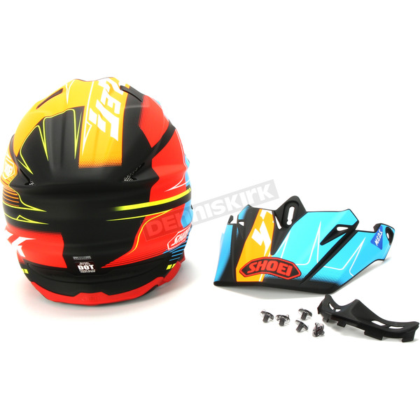 Shoei Helmets Matte Red/Blue/Orange VFX-EVO Zinger TC-10 Helmet - 0146-1110-06