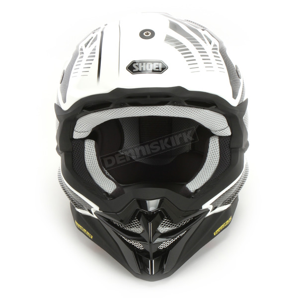 Shoei Helmets White/Gray/Black VFX-EVO Blazon TC-6 Helmet - 0146-1206-04