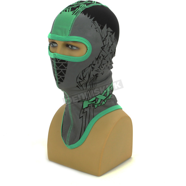 Black/Green Shredder Balaclava - 2712.70113