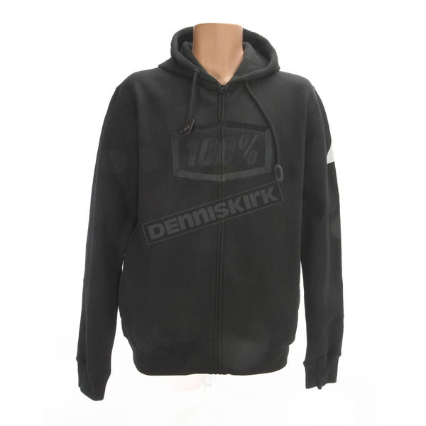 100% Black Syndicate Zip Hoody - 36004-001-13