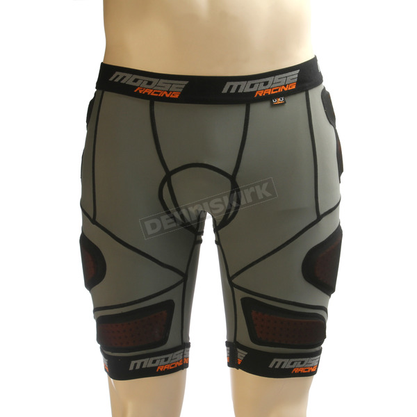 Moose Black XC1 Base Armor Shorts - 2940-0257
