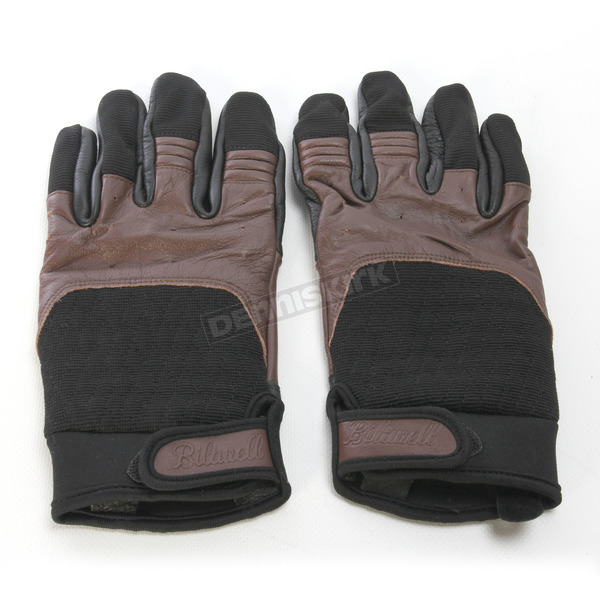 Biltwell Chocolate/Black Bantam Gloves - GB-XLG-CO-BK