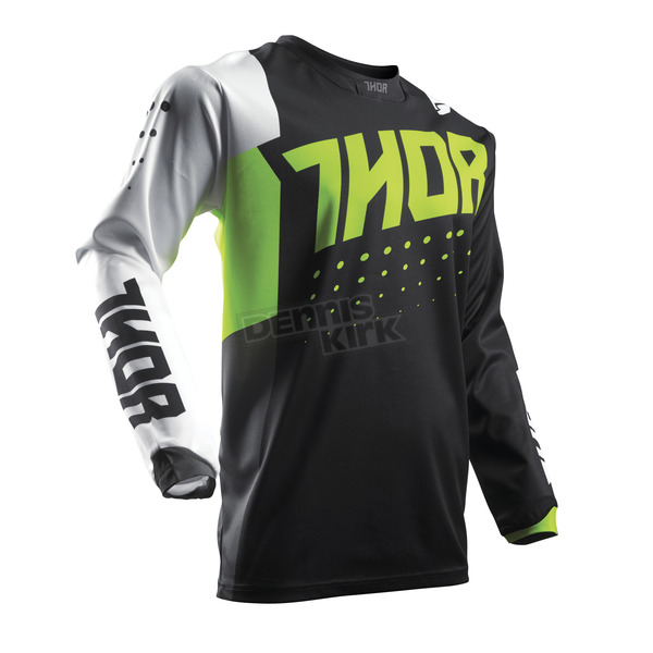 Thor Youth Lime/Black Pulse Aktiv Jersey - 2912-1420