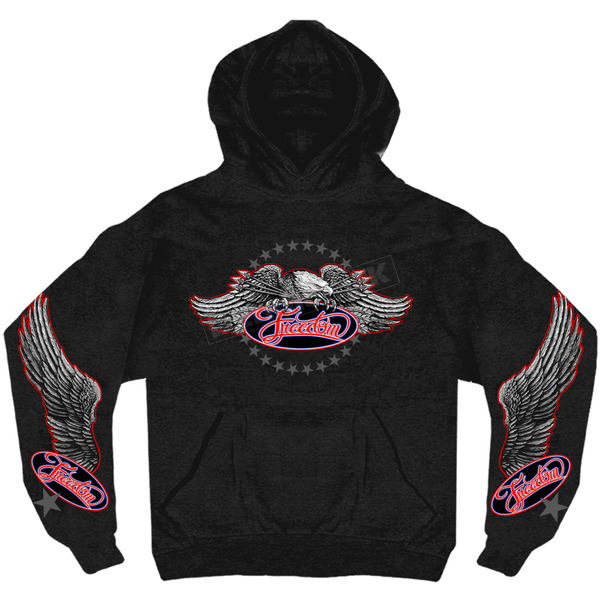 Hot Leathers Freedom Eagle Hoody - 3434913XL
