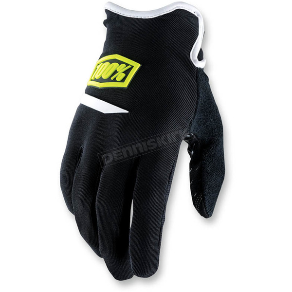 100% Youth Black Airmatic Gloves - 10004-011-08