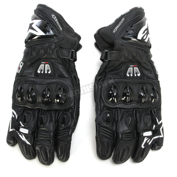 Alpinestars Black GP Pro R2 Leather Gloves - 3556717-10-S