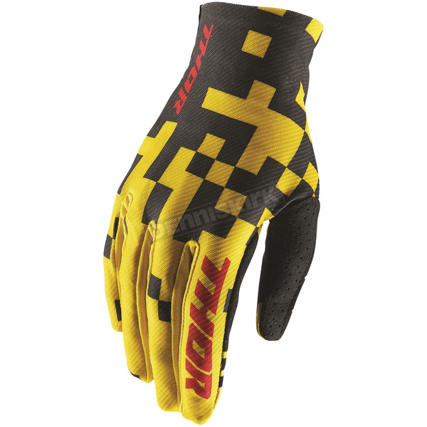 Thor Yellow/Black Void Bits Gloves - 3330-4459