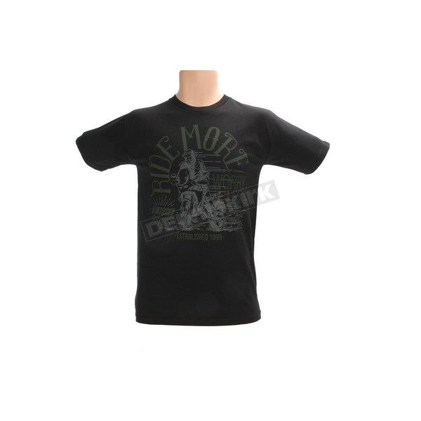 Klim Black Ride More Worry Less Adventure T-Shirt - 3780-000-140-000