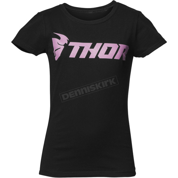 Thor Girls Black Loud Tee Shirt - 3032-2658