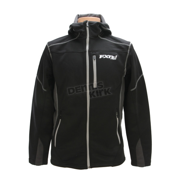 FXR Racing Black Summit Tech Zip Hoody - 170929-1000-13