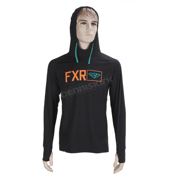 FXR Racing Black/Orange Terminal Tech Pullover Hoody - 170913-1030-10