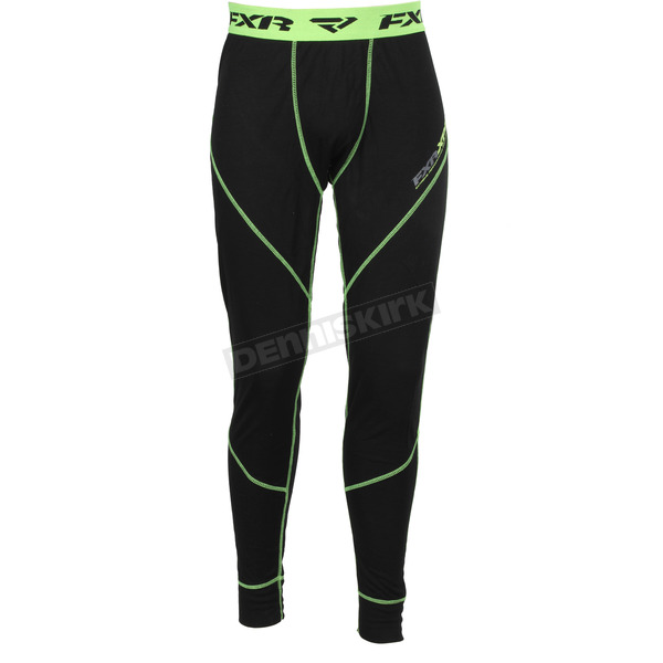 FXR Racing Black/Hi-Vis Vapour 20% Merino Pants - 171101-1065-07