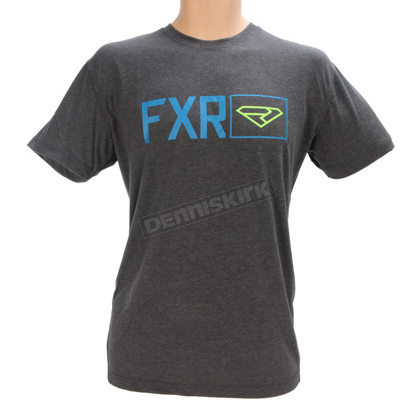 FXR Racing Charcoal Heather/Blue Terminal Tech T-Shirt - 170915-0640-07