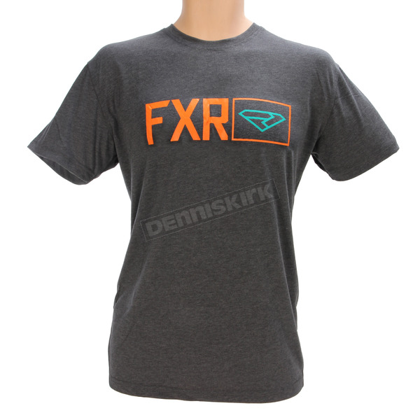 FXR Racing Charcoal Heather/Orange Terminal Tech T-Shirt - 170915-0630-07