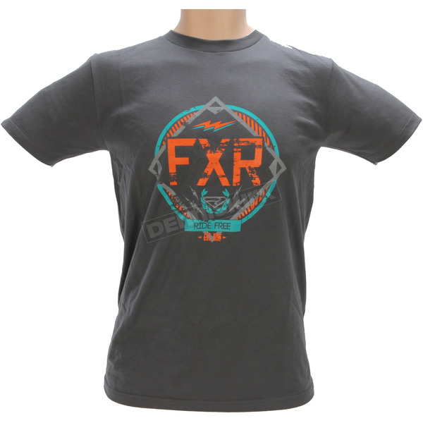 FXR Racing Charcoal Freedom Squad T-Shirt - 171311-0830-13