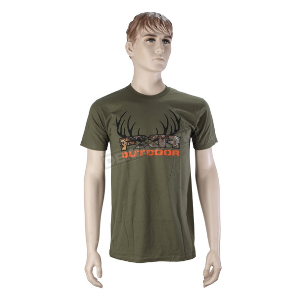 FXR Racing Olive Outdoor T-Shirt - 16857.30016