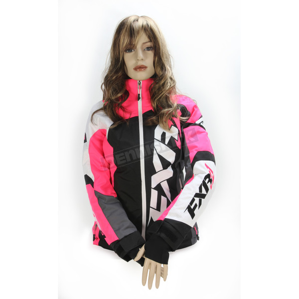 FXR Racing Women's Black/Electric Pink/White Tri Revo X Jacket - 170216-1094-10
