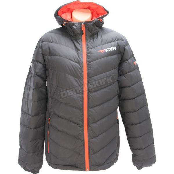 FXR Racing Women's Charcoal/Electric Tangerine Elevation Down Jacket - 170218-1035-06