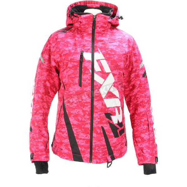 FXR Racing Women's Electric Pink Digi/Black Boost Jacket - 170204-9710-06