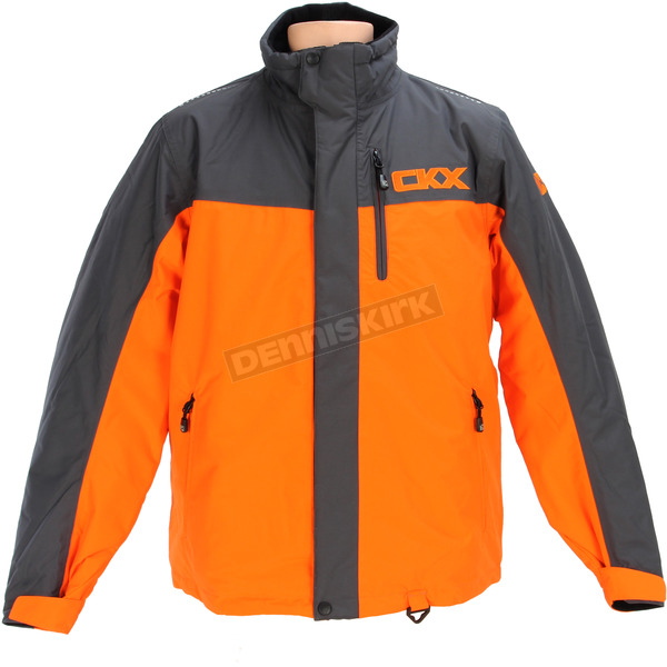 CKX Orange/Charcoal Recreation Trail Snow Jacket - M17312_CHC_M
