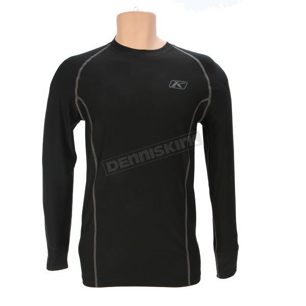 Klim Black Aggressor 1.0 Base Layer Shirt - 3356-005-160-000