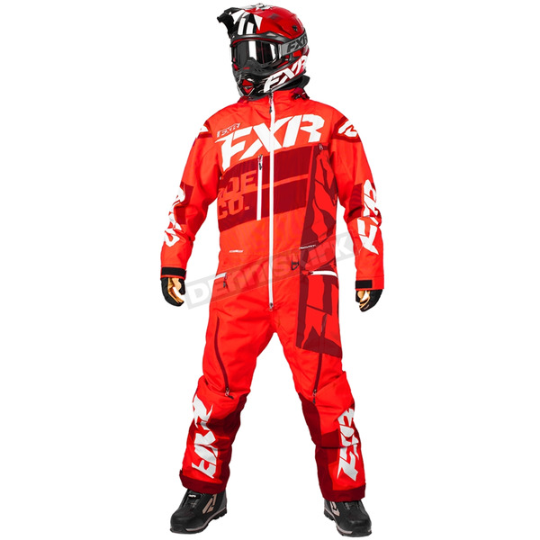 FXR Racing Nuke Red/Maroon Boost Lite Monosuit - 182817-2325-19