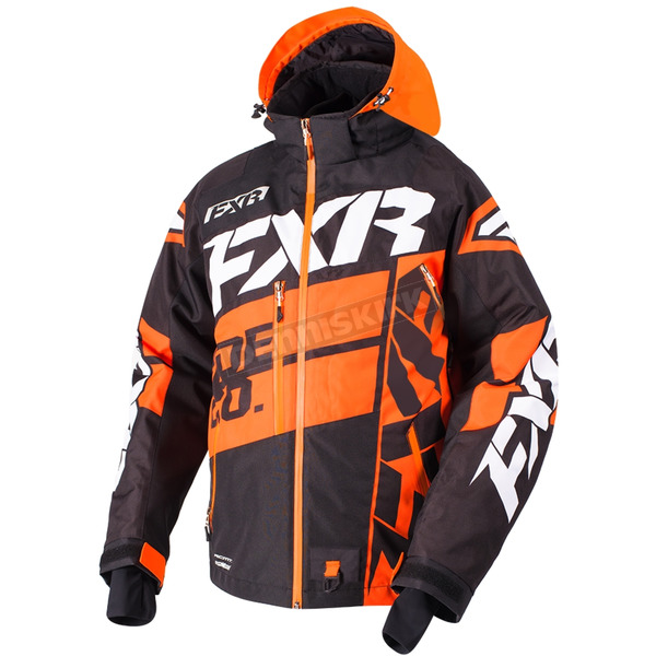 FXR Racing Black/Orange/White Boost X Jacket - 180029-1030-13
