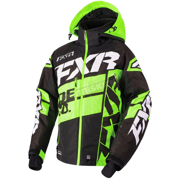 FXR Racing Black/Lime/White Boost X Jacket - 180029-1070-13