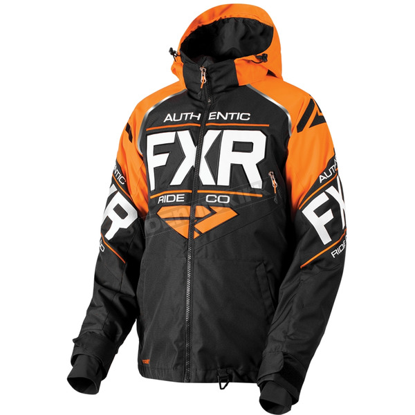FXR Racing Black/Orange/White Clutch Jacket - 180030-1030-13