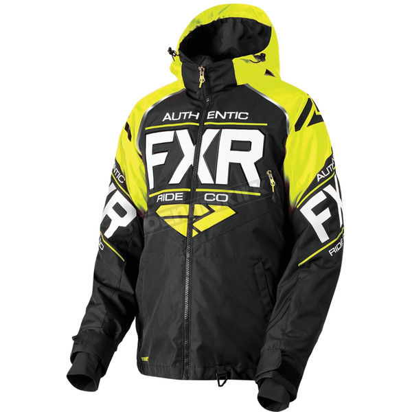 FXR Racing Black/Hi-Vis/White Clutch Jacket - 180030-1065-22
