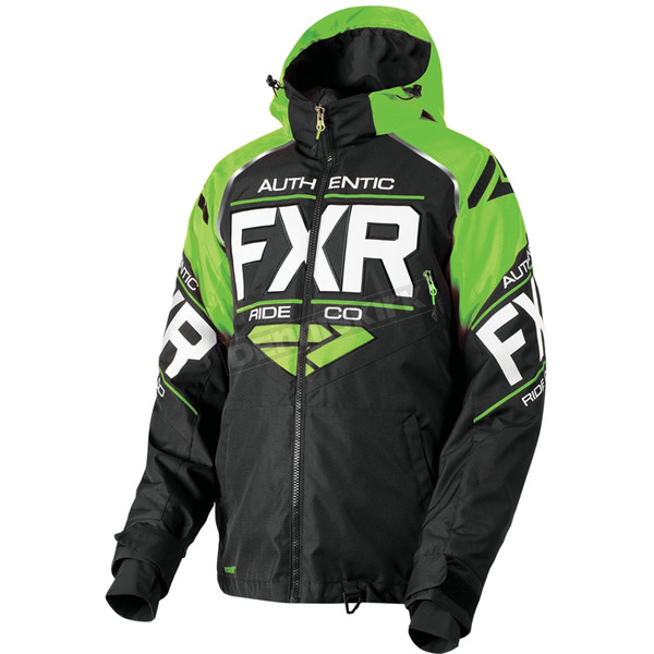 FXR Racing Black/Lime/White Clutch Jacket - 180030-1070-13