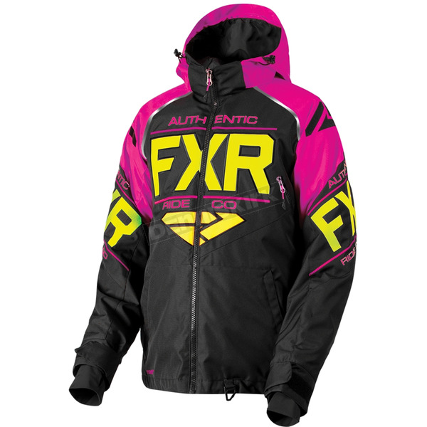 FXR Racing Black/Fuchsia/Hi-Vis Clutch Jacket - 180030-1090-13