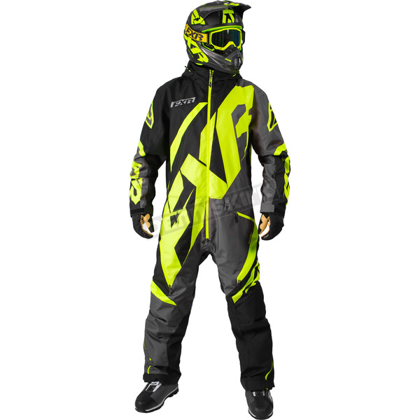 FXR Racing Black/Charcoal/Hi-Vis CX Insulated Monsuit - 182808-1065-13