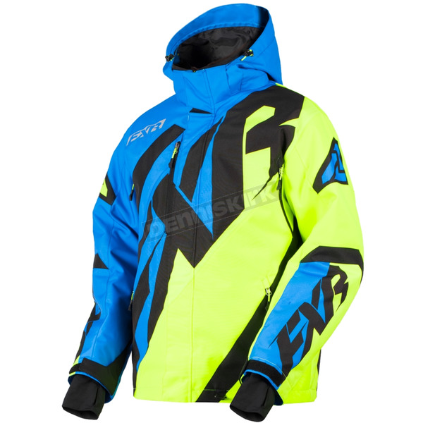 FXR Racing Blue/Hi-Vis/Black CX Jacket - 180020-4065-07