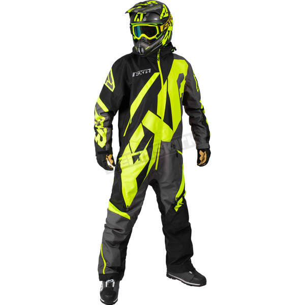 FXR Racing Black/Charcoal/Hi-Vis CX Lite Monosuit - 182807-1065-16