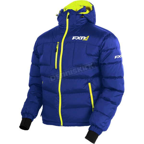 FXR Racing Navy/Hi-Vis Elevation Down Jacket - 170030-4565-10