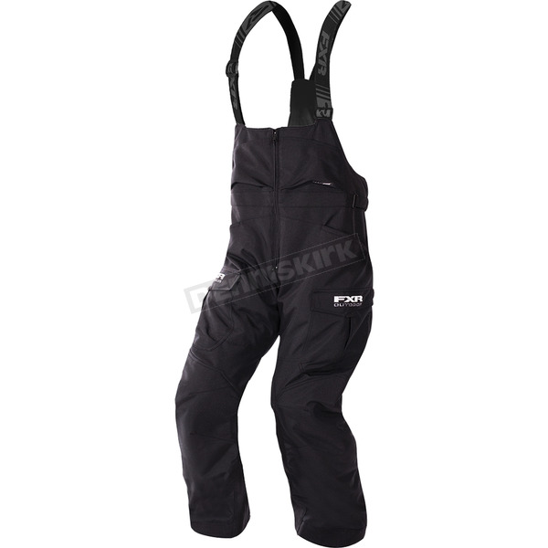 FXR Racing Black Excursion Bibs - 180123-1000-19