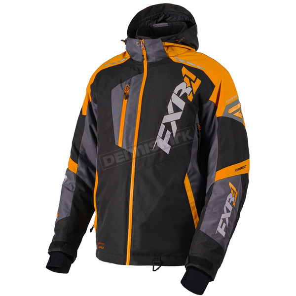 FXR Racing Black/Orange/Charcoal Mission FX Jacket - 180031-1030-16