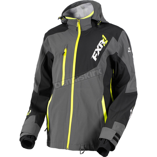 FXR Racing Charcoal/Black/Hi-Vis Mission Lite Tri-Lam Jacket - 180014-0810-10