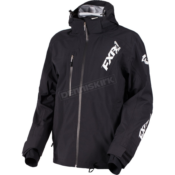 FXR Racing Black Mission Lite Tri-Lam Jacket - 180014-1000-16