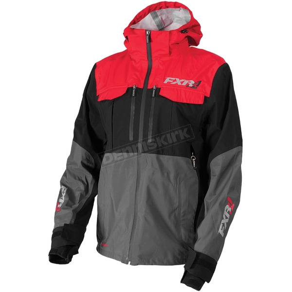 FXR Racing Charcoal/Red R1 Pro Tri-Laminate Jacket - 172001-0820-07