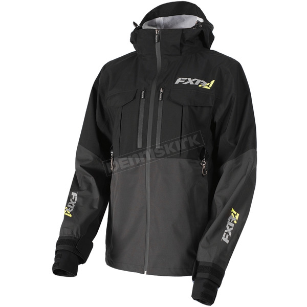 FXR Racing Black/Charcoal R1 Pro Tri-Laminate Jacket - 172001-1008-19