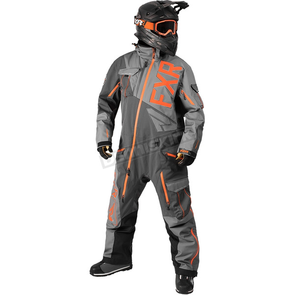 FXR Racing Gray/Charcoal/Orange Ranger Instinct Lite Monosuit - 172801-0508-16