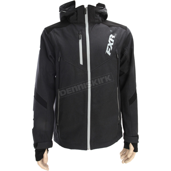 FXR Racing Charcoal Heather/Black Renegade Tri-Laminate Softshell Jacket - 180907-0610-13