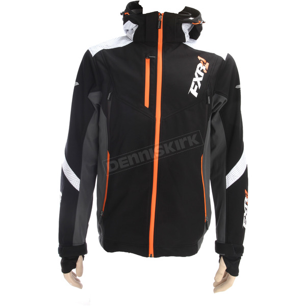 FXR Racing Black/White/Orange Renegade Tri-Laminate Softshell Jacket - 180907-1001-19