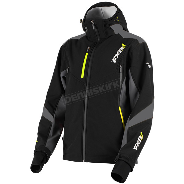 FXR Racing Black/Charcoal/Hi-Vis Renegade Tri-Laminate Softshell Jacket - 180907-1008-16