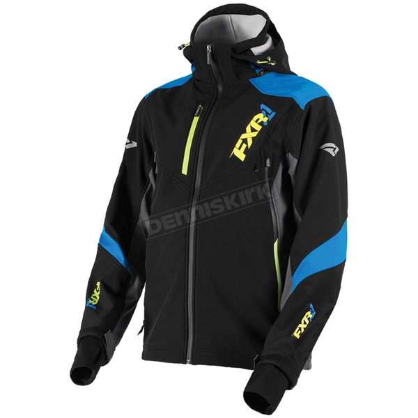 FXR Racing Black/Blue/Hi-Vis Renegade Tri-Laminate Softshell Jacket - 180907-1040-16